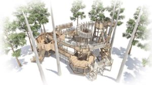 Birds Eye View of Cotswold Wildlife Park coming to life