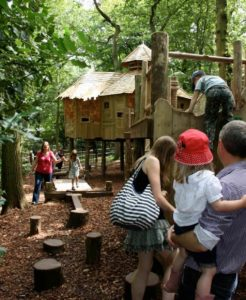 Children playing at RHS Harlow Carr Adventure Play