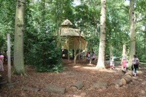 Woodland Play area at RHS Harlow Carr