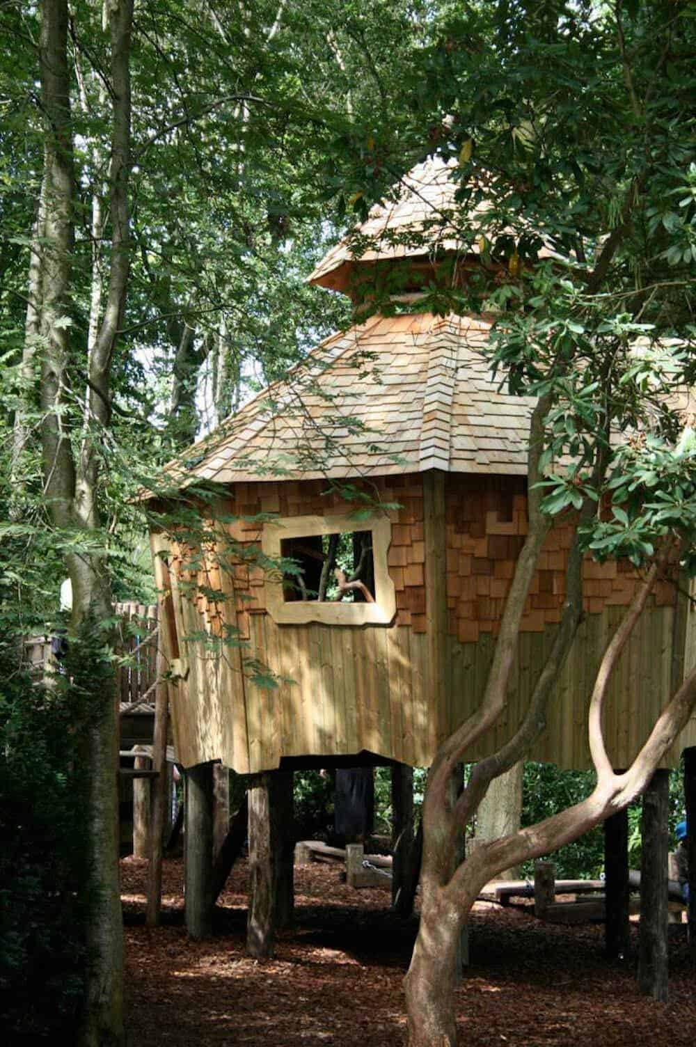 Adventure play treehouse at RHS Harlow Carr