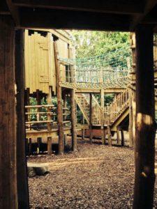 Secret doorways under the structure at Cotswold Wildlife Park