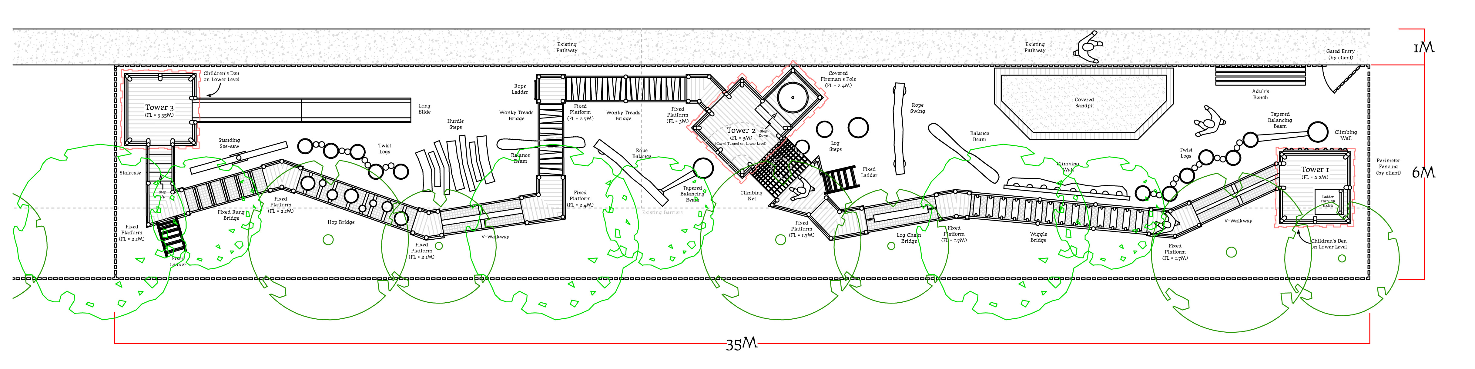 Bawdeswell Garden Centre adventure play site plan