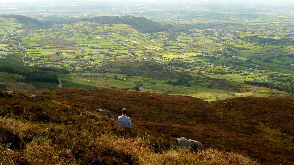 The view from the hill at Slieve Gullion what a view to play in