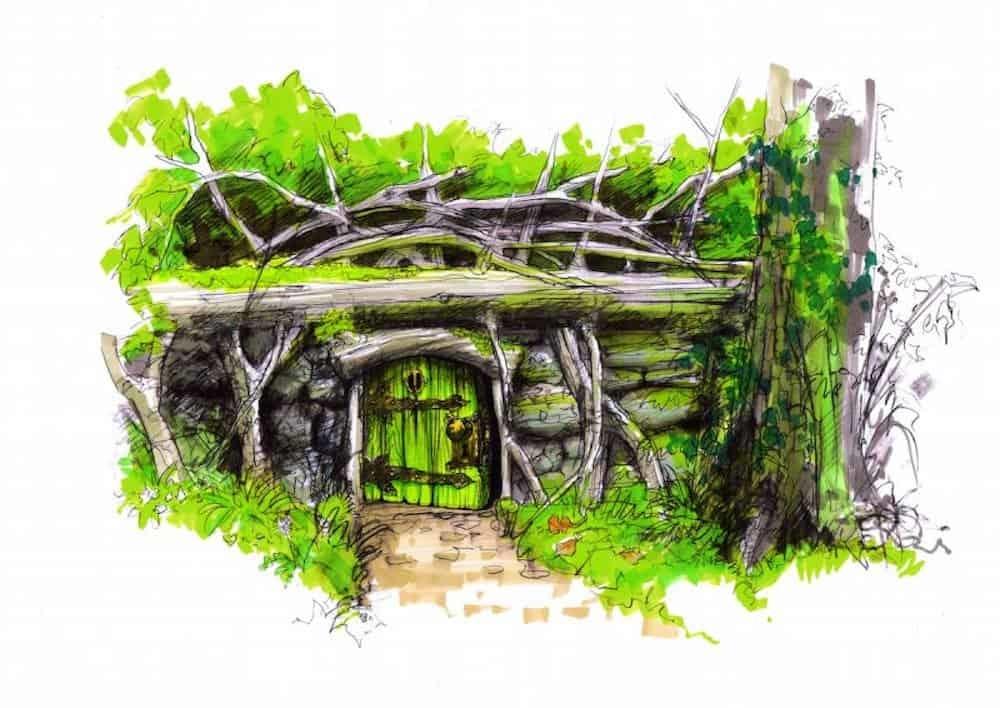 Fairy door at slieve gullion under the fallen tree