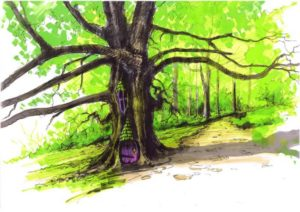 The giant oak at slieve gullion becomes a fairy home