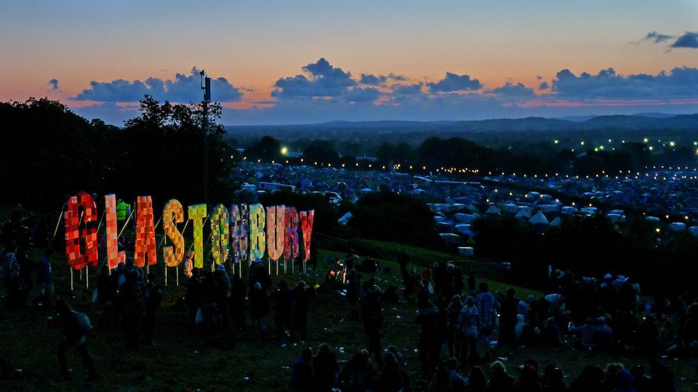 Glastonbury Festival signage