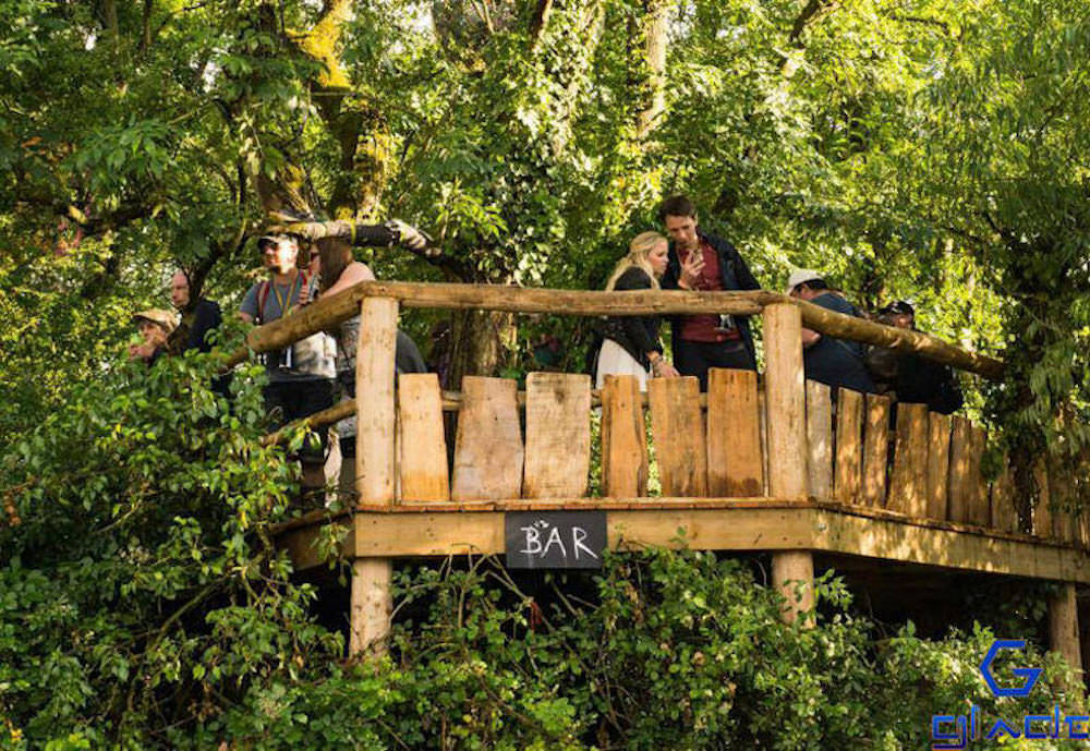 The spike treehouse is a place to reflect at Glastonbury Festival