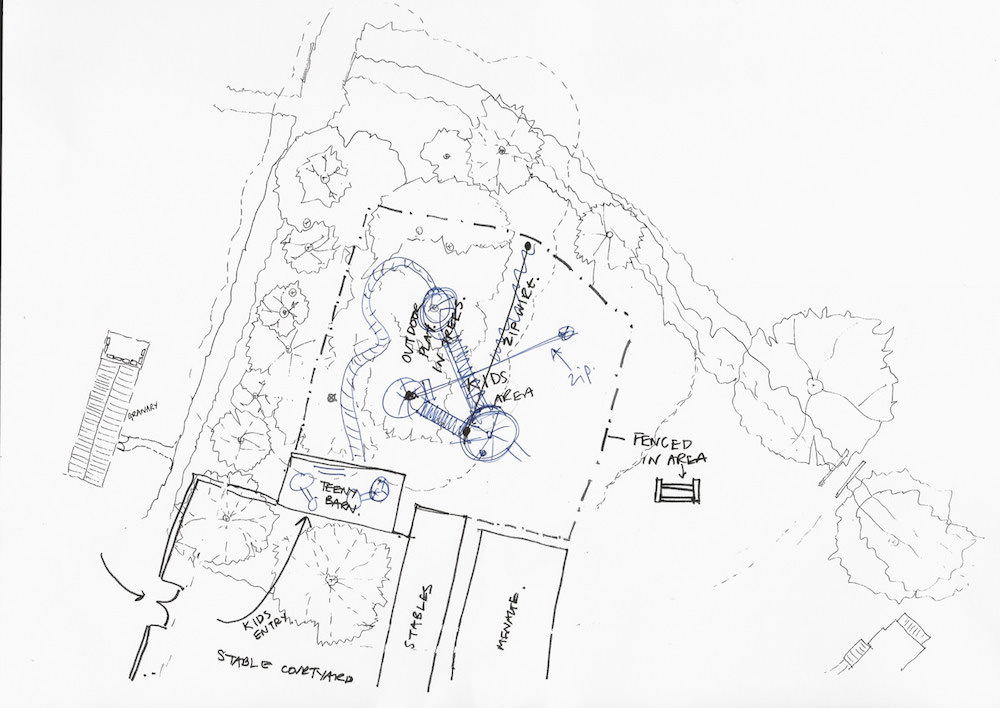 Overall plan rough for Soho farmhouse adventure play