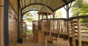 Close up of the Soho Farmhouse barn play