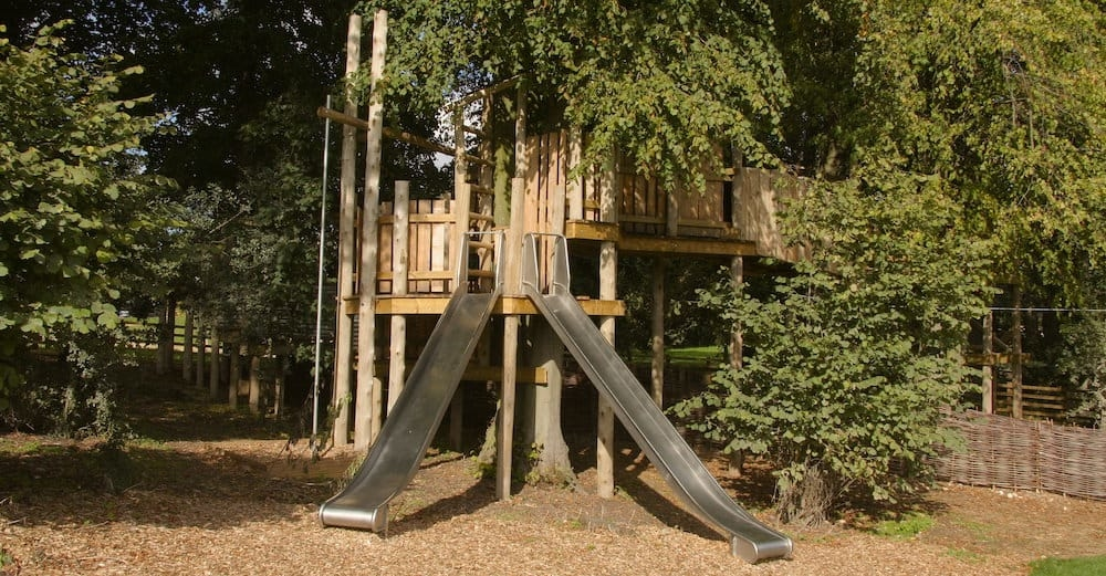 Twin slides at Soho farmhouse
