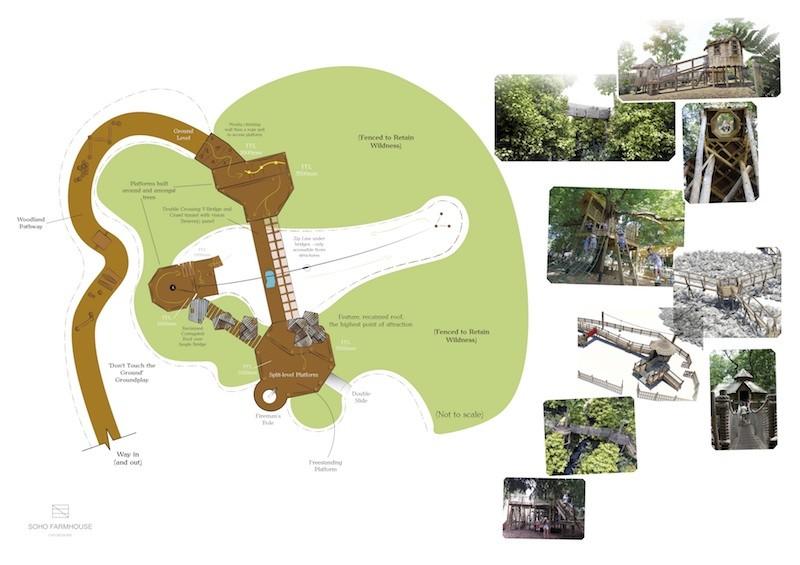 Initial layouts for the Soho Farmhouse development