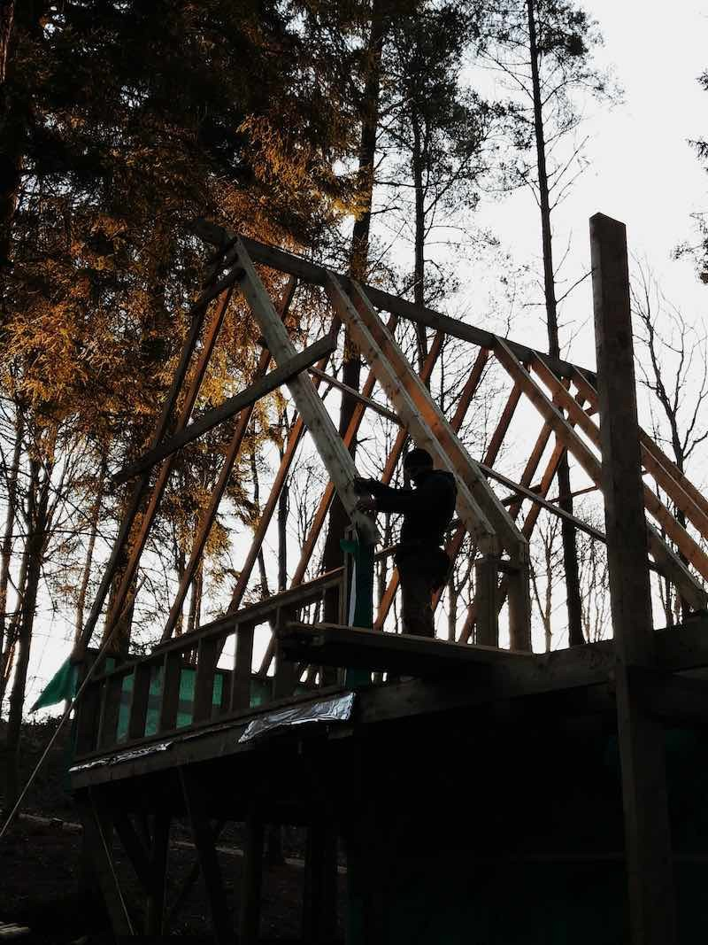 The new adventure play build takes shape at Lowther castle