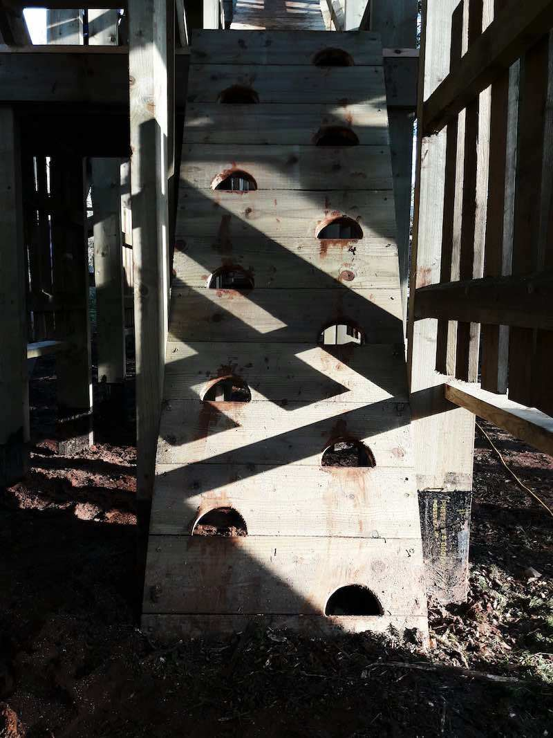 Steps into the new adventure play at Lowther