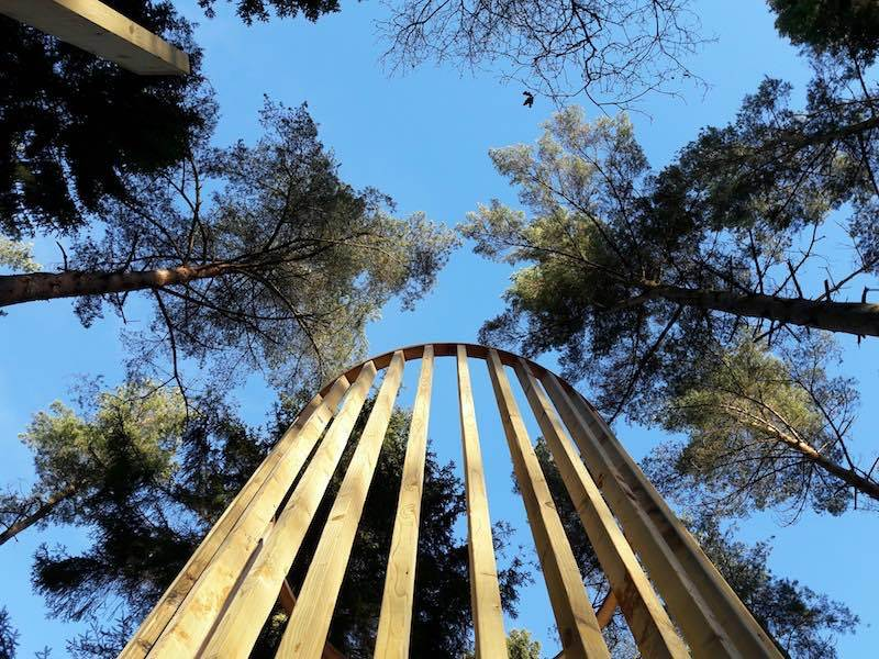 A new tower reaches into the sky at Lowther castle