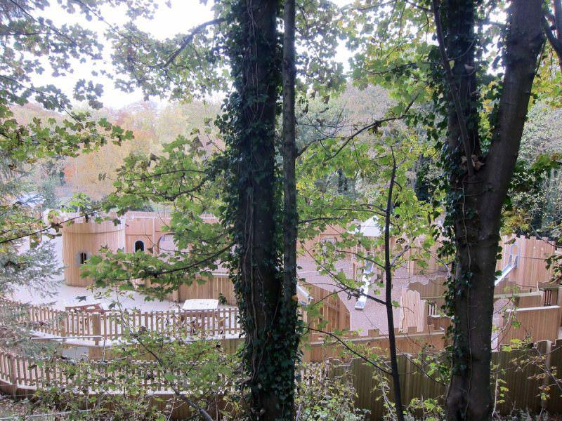 A higher view of the Wild Woodland Play into the Adventure Cove