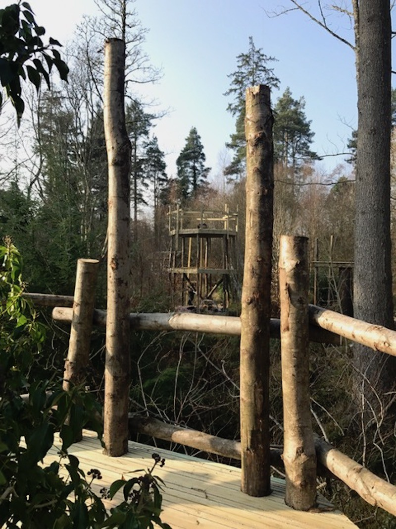 lots of natural and local materials at Brodick Castle adventure play