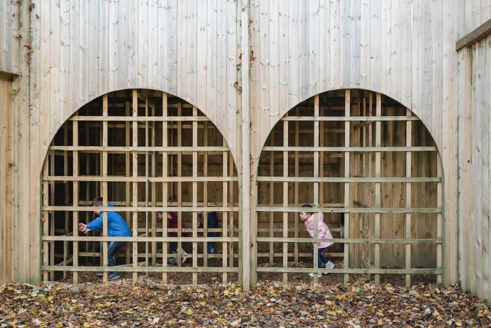 Enclosed play at Culzean Castle Adventure play