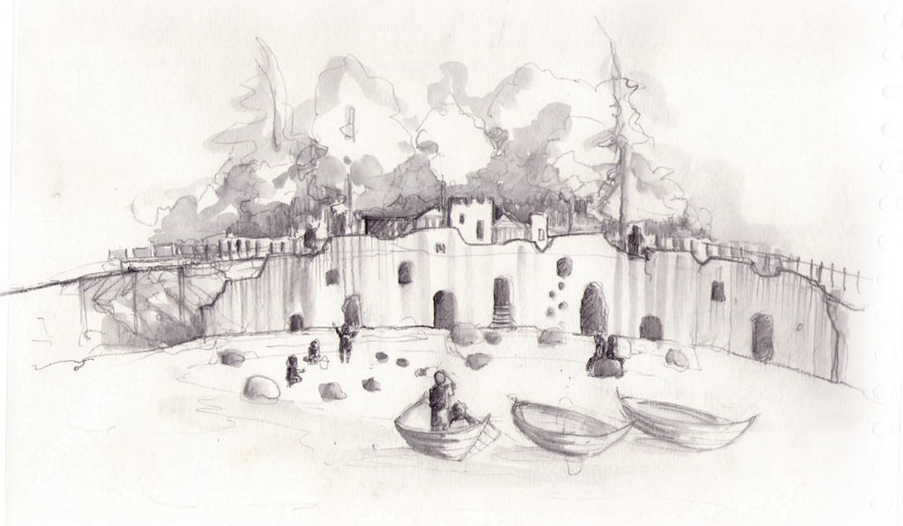 One of the initial sketches for Culzean Castle in Ayrshire by CAP.Co