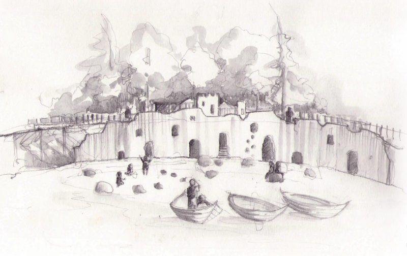 Culzean Castle Smugglers Cove sketch adventure play