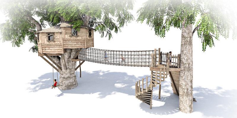 Mount St John residential treehouse visual 1
