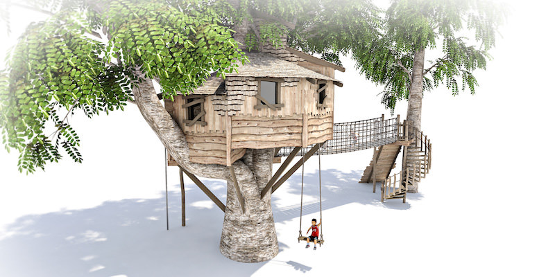 Mount St John residential treehouse visual 2