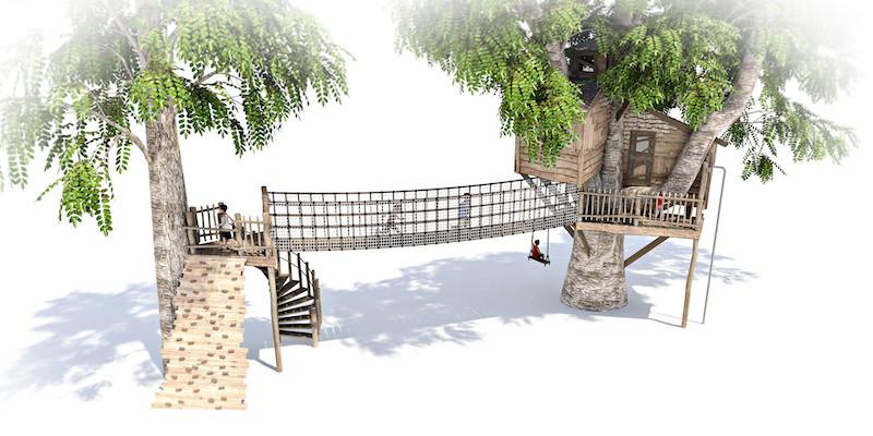 Mount St John residential treehouse visual 4