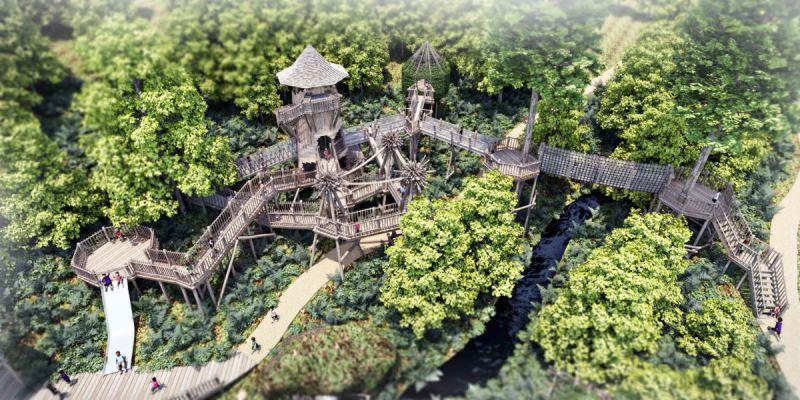 The bridge across the river, Arran Wild Adventure at Brodick Castle