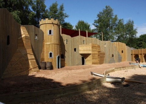 The finished project at smugglers cover-adventure play culzean castle