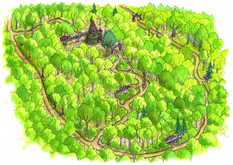 Fairy Kingdom birdseye illustration for Slieve Gullion