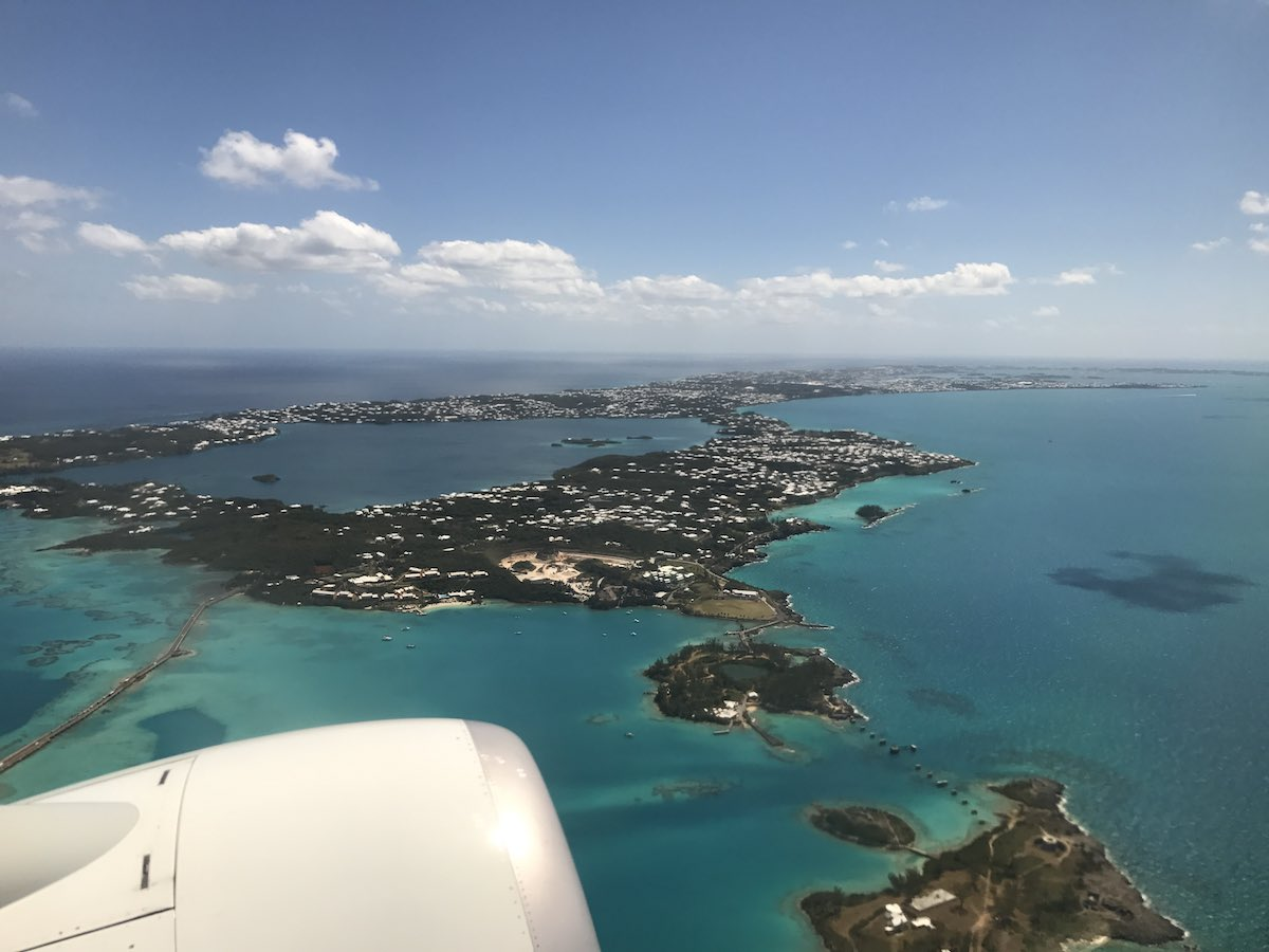 The view from the sky of Hamilton Bermuda