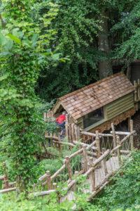 Secret tunnel across a bridge at Brodick Castle Isle Be Wild Adventure Play Arran