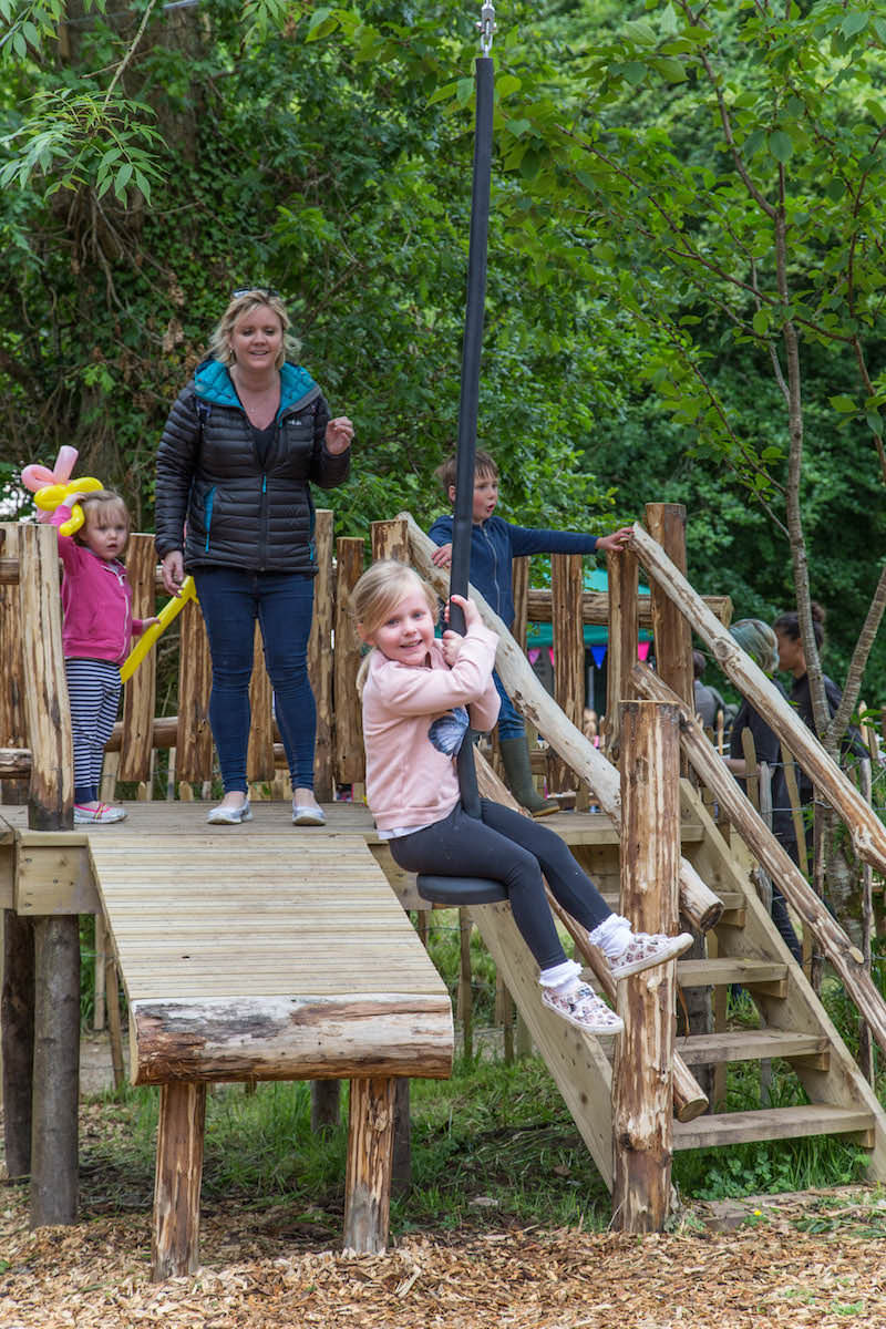 The kids love the zip wires at Brodick Castle Isle Be Wild Adventure Play Arran