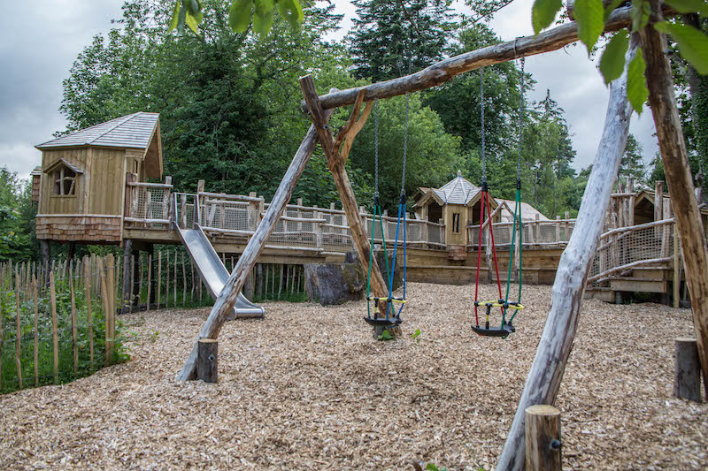 Junior play area at Brodick Castle Isle Be Wild Adventure Play Arran