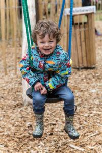 Kids loving the junior play at Brodick Castle Isle Be Wild Adventure Play Arran