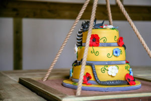 Birthday cake in the treehouse