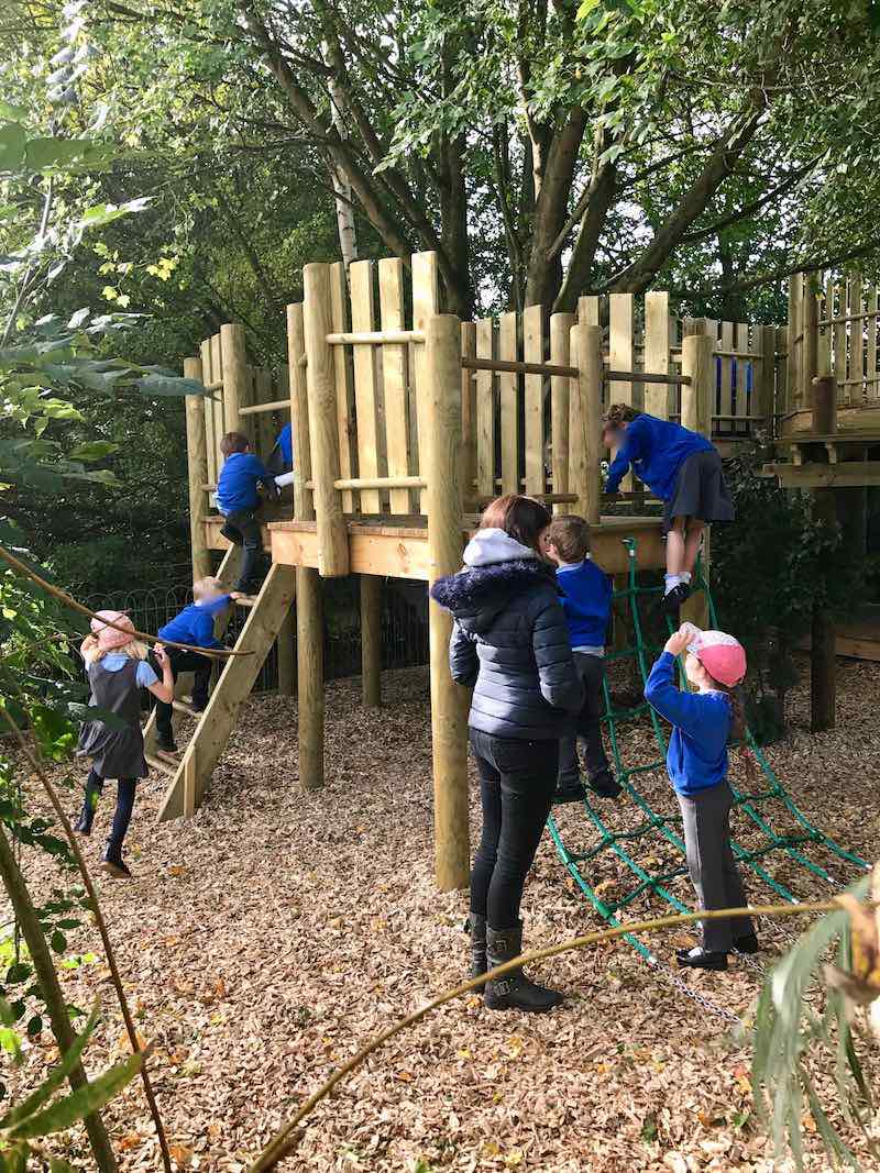 Supervised play is now much more fun at Poringland school with the new outdoor Adventure Play