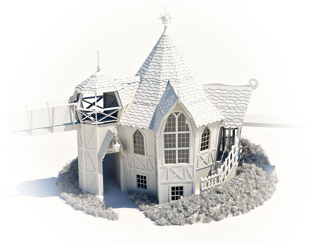 Initial white render to build upon