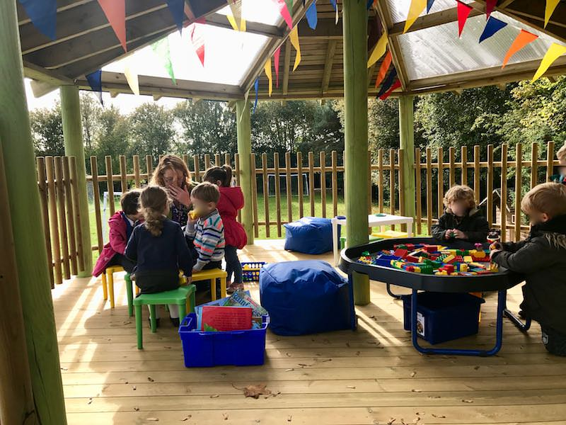 Outdoor nursery Play at Poringland Nursery School