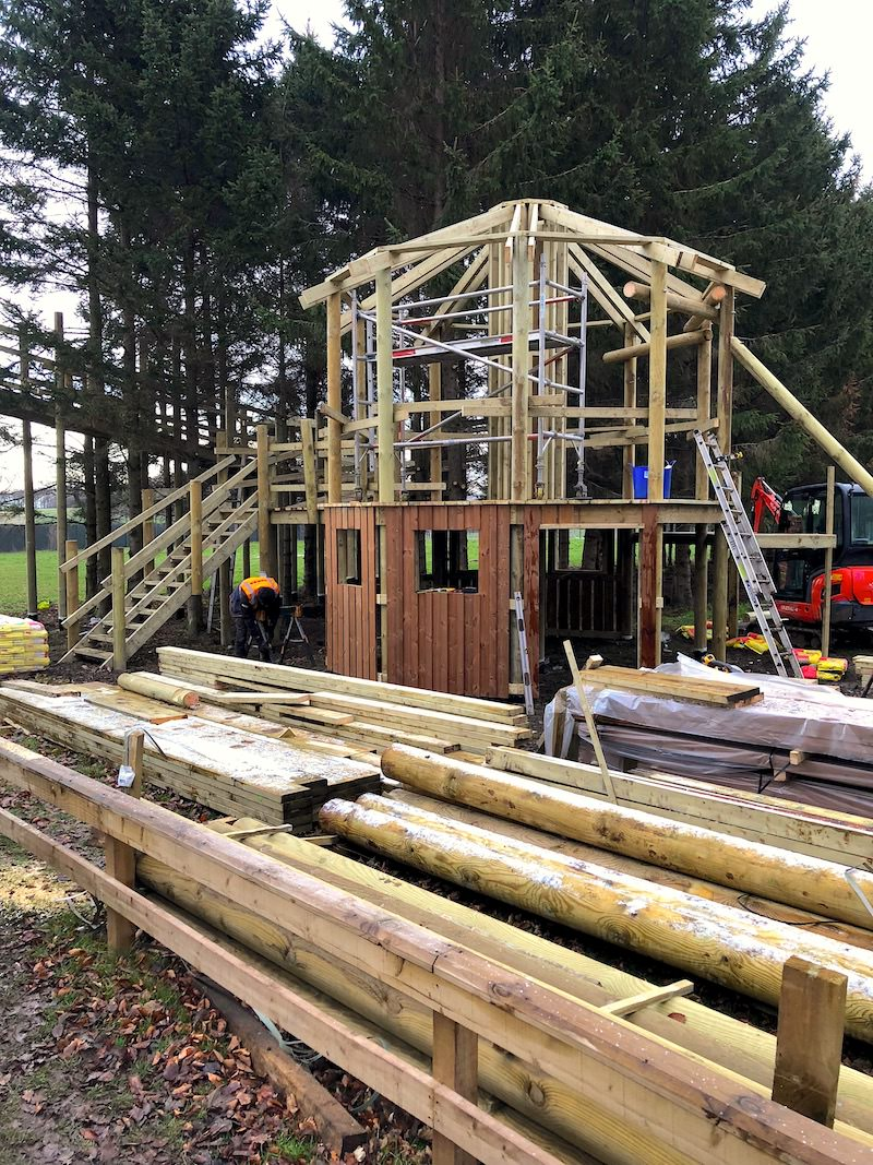 The new themed Orangery Play and Zip Hub