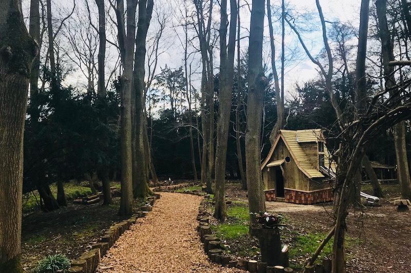 The new Elf House within the fairy and Elf Walk at Audley End Miniature Railway