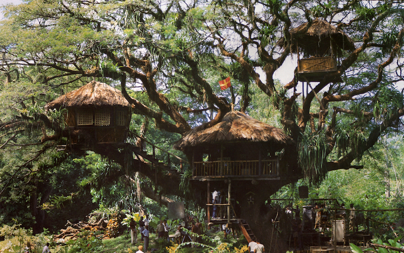 The Swiss Family Robinson treehouse built for the 1960 Disney film