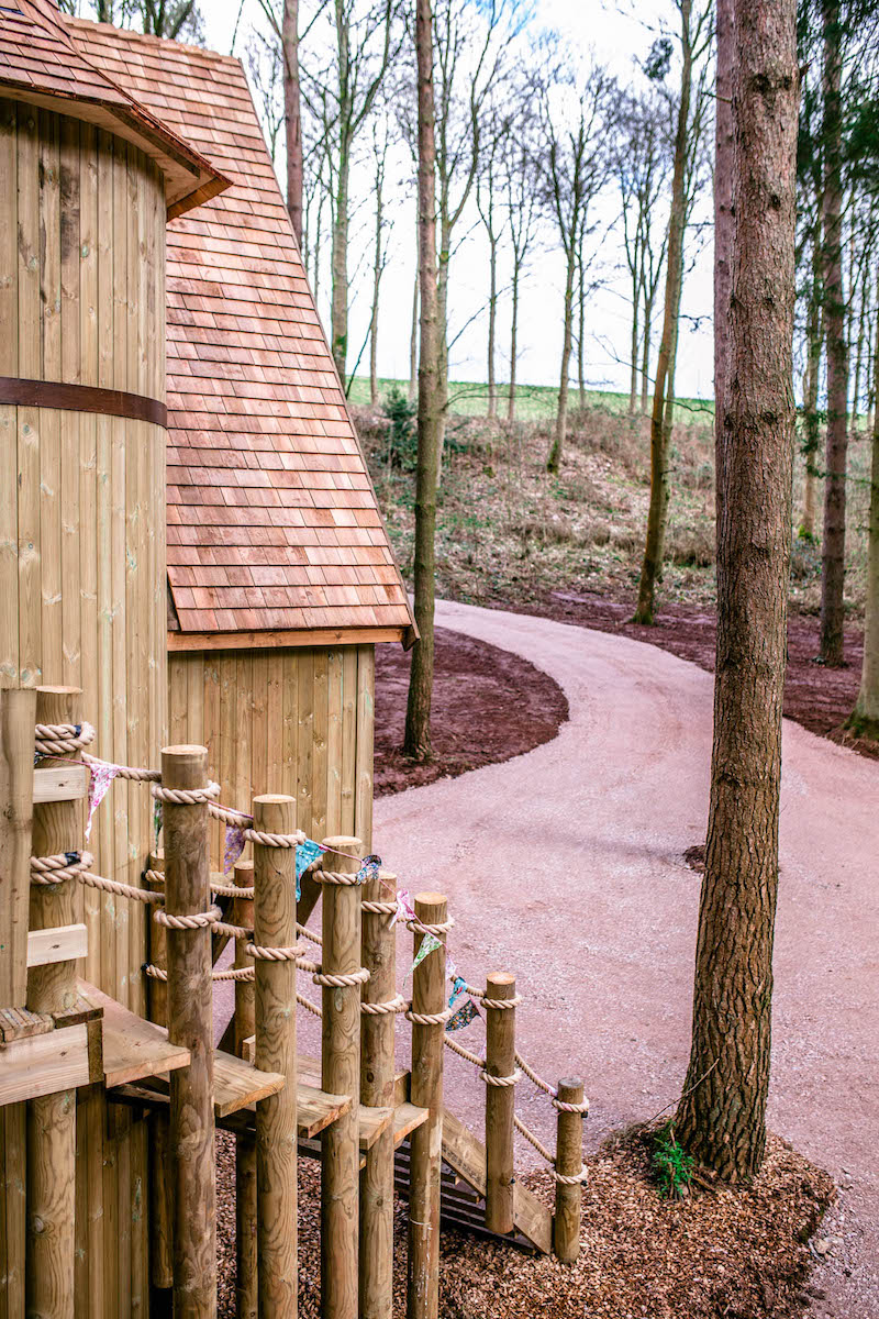 The path that leads to treehouse accommodation