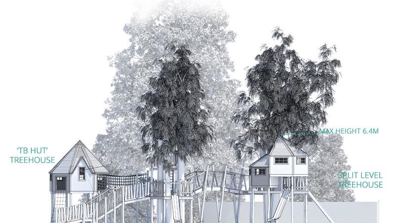 Treehouse Accommodation illustration
