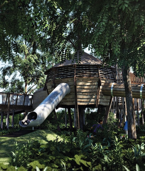 adventure play linked to treehouse accommodation