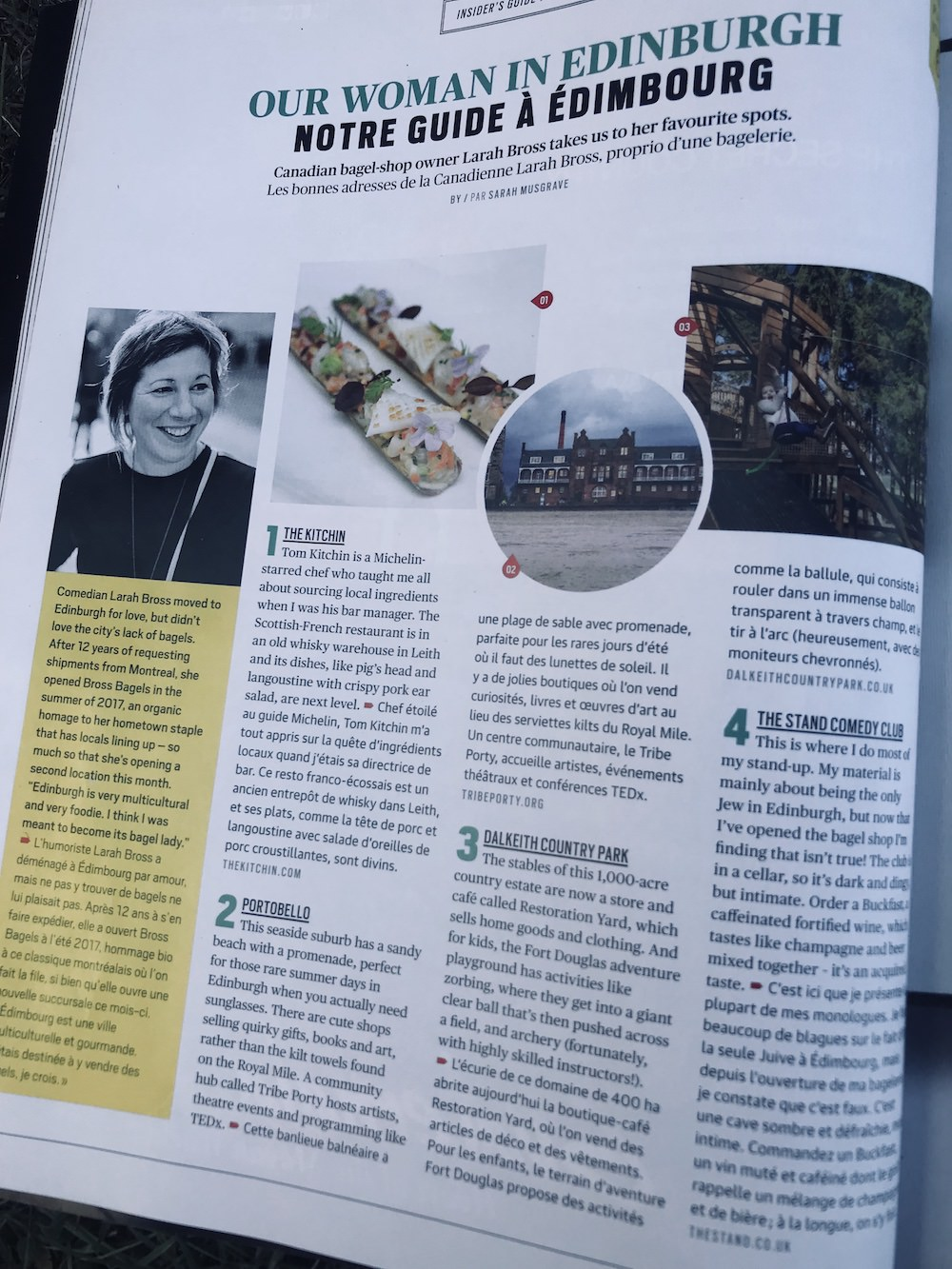 Dalkeith featured in Air Canada magazine