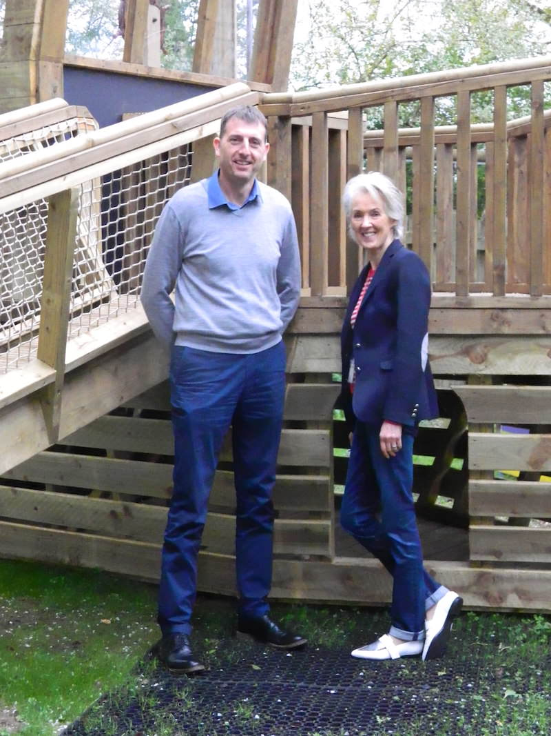 Joanna Trollope Patron of the Mulberry Bush School pictured with Lee Wright, Director of The Mulberry Bush School