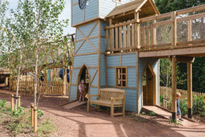View across the open play area at newhailes