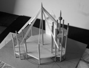 Library model for Newhailes