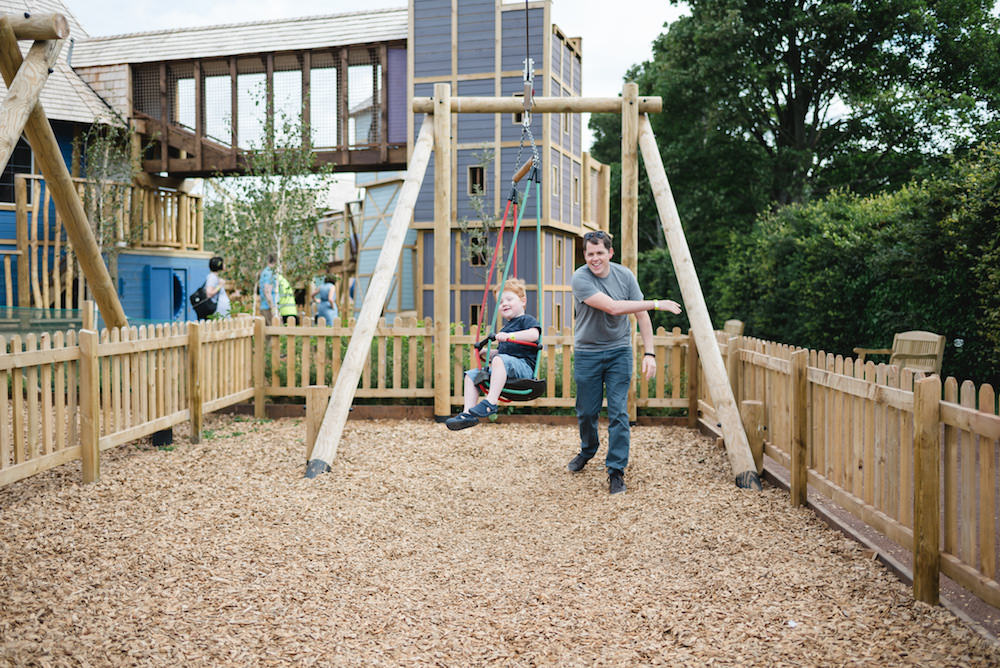 Dads can give their kids great fun at Newhailes adventure play by CAP.Co