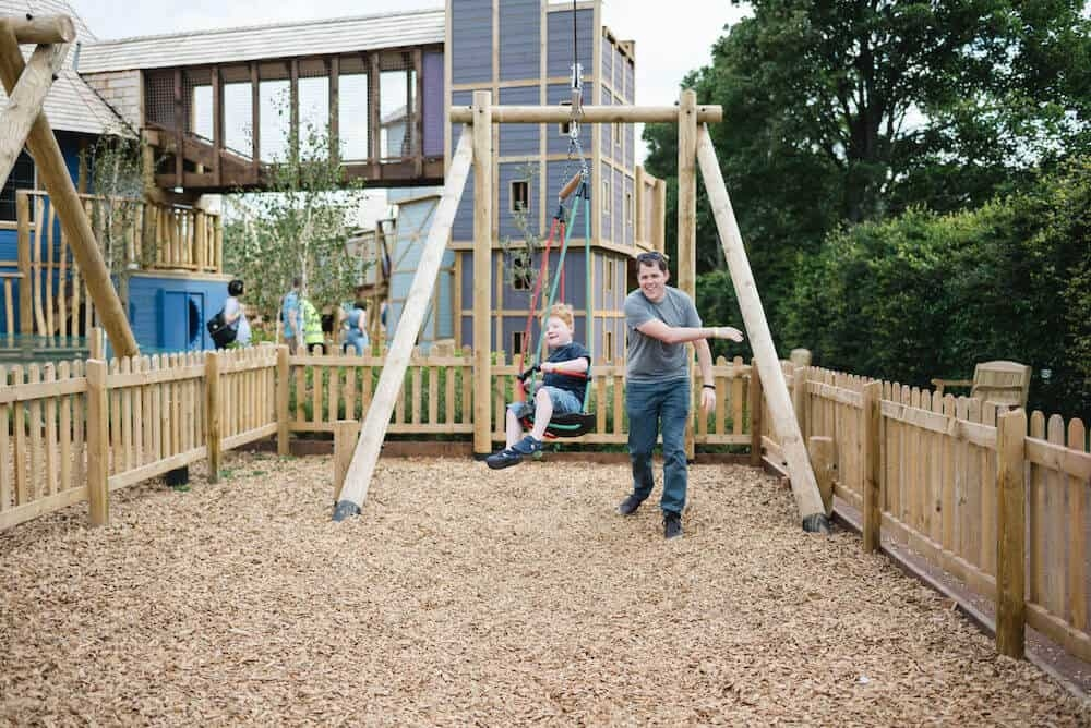 Dads can have fun with their kids at Newhailes play by capco